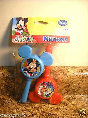 Disney MICKEY MOUSE CLUBHOUSE Maracas 2 Piece Set  Musical Instrument NEW