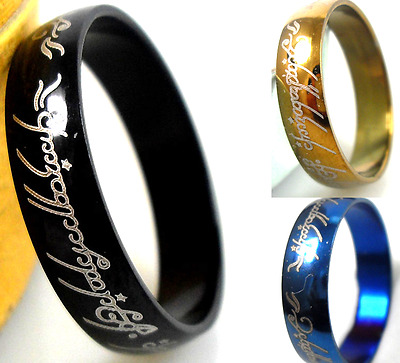 18pcs Hot 6mm THE LORD OF THE RINGS 3 Color Mixed Wholesale stainless steel Lots