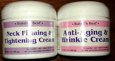 Baker's Best Neck Firming & Tightening Creme and Anti-Aging & Wrinkle Cream NR!