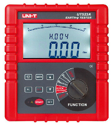 UT523A 2/3/4 Pole Earth Resistance Voltage Soil Resistivity Tester Meter RS232