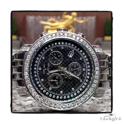 782dcba0f30 MENS DIAMOND FULLY Iced Digital White Super Gucci Watch Round Cut ...