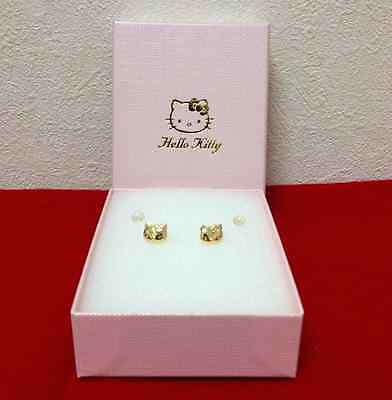 Brand New 18K Japan Gold Original Hello Kitty Earrings SHIPS FROM TOKYO, JAPAN