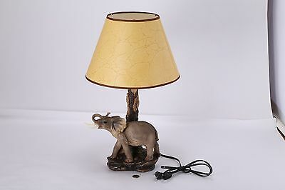 Quality Designer Resin Hand-painted Realistic Elephant Figurine Lamp 21 inch