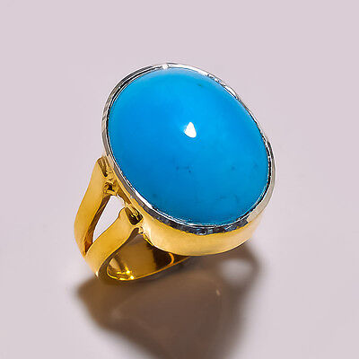 Solid 925 Sterling Silver Modern Incredible& Trendy Ring with Fine turquoise