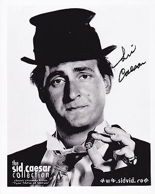 Autographed In Person Sid Caesar B & W  8 X 10 Photo