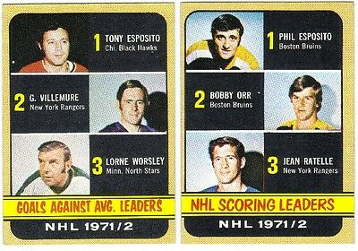 LOT OF 10 DIFFERENT HIGH GRADE 1972-73 TOPPS HOCKEY STAR CARDS EX/MINT+ to MINT