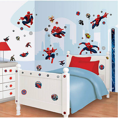 WALLTASTIC Wandsticker Set Kinderzimmer Ultimate Spiderman Wandtattoo NEUHEIT