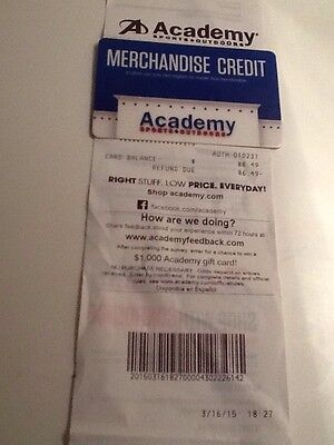 $86.49  Academy Sports & Outdoors Gift Card Academy Store Credit