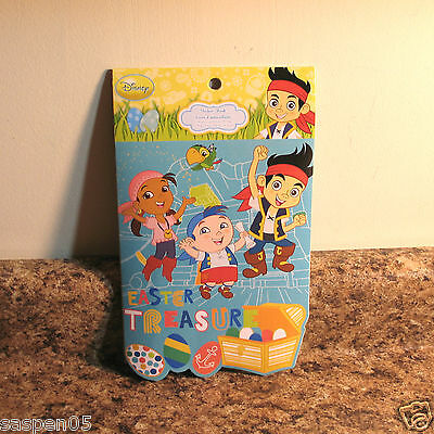 Disney JAKE AND THE NEVERLAND PIRATES  Sticker Pad Book Easter Spring Theme  NEW