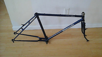 Vintage Blue 50 cm Steel Panasonic City Bike Frame & Fork Perfect Fixie Project