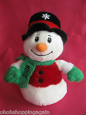 Snowball Dated 2008 Frosty Snowman Sears Winter Christmas Plush Charity Holiday