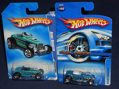 Hot Wheels Lot of 2 Deuce Roadster 2006 Mainline Blue & 2009 Modified Rides Teal