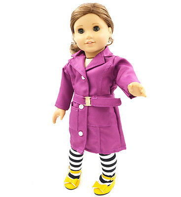"High Quality Black Clothes  Fits For 18"" American Girl doll For Kids Gift"