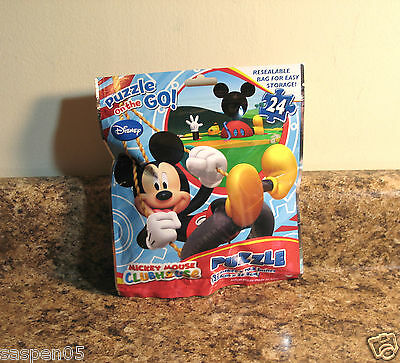 Disney MICKEY MOUSE CLUBHOUSE Puzzle 24 Piece Resealable Bag  NEW
