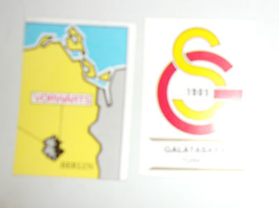 Lot 2 Stickers Panini Football Clubs / Vintage
