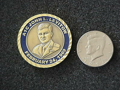 RARE USAF JOHN LEVITOW MEDAL OF HONOR CHALLENGE COIN