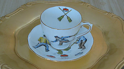 Vintage Royal Standard A Curling Cup Bone China Cup and Saucer