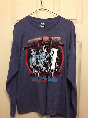 NWT Boy's Star Wars XL long sleeve t shirt Star Wars Storm Troopers Graphic Tee