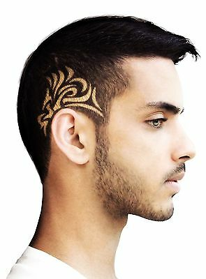 New12 Different Stencils Of Hair Tattoo Design Cut Trimmer Amazing Color Stickta