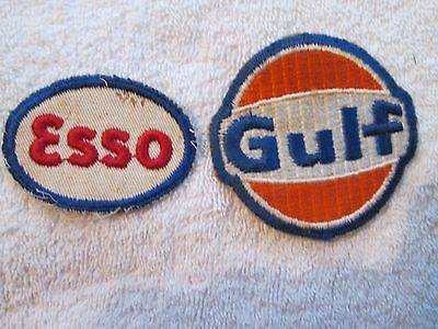 Vintage Gulf And Esso Oil & Gas Company Cloth Patches