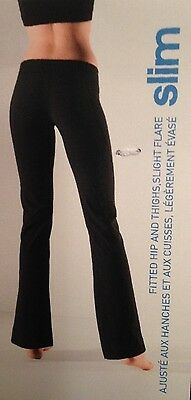 Adidas Womens Slim Fitted Flare Workout Athletic Exercise Black 2X Pants NWT