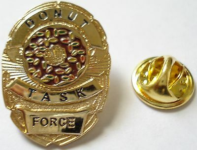 DONUT TASK FORCE Police SWAT Sheriff CIA Badge Hat Jacket Vest Tie Tac Lapel Pin