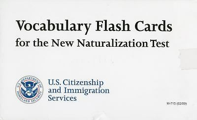 Vocabulary Flash Cards for the New Naturalization Test (2009, Merchandise,...