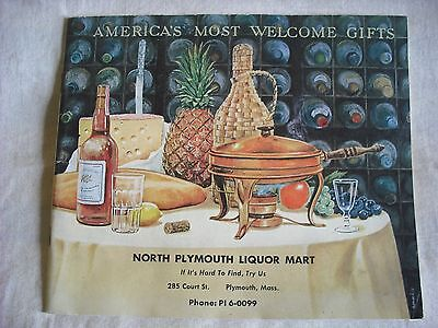 A VINTAGE 1963 ILLUSTRATED LIQUOR CATALOG / 58 PAGES OF CLASSIC LIQUOR BOTTLES