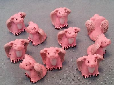 Peruvian Ceramic UNIQUE Flying Angel Pig Pink Pendant Focal Bead Single or Lot