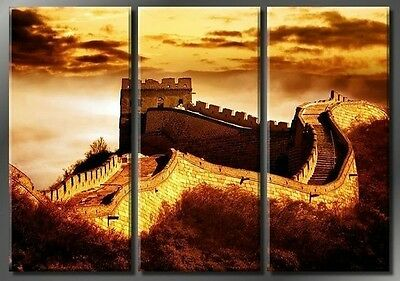 """MODERN CANVAS ABSTRACT ART OIL PAINTING-""""Great Wall"""" (No Framed)"""