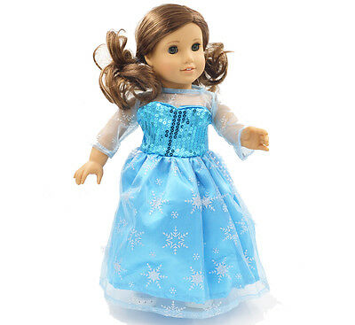 "Hot Stock Doll Clothes fits 18"" American Girl Handmade Princess  Party Dress"