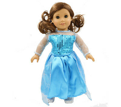 "Hot Stock Doll Clothes fits 18"" American Girl Handmade Nice Princess Dress"