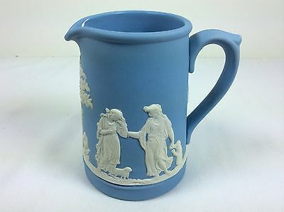 Jasper Ware Creamer Pottery Blue White Wedgwood Made in England