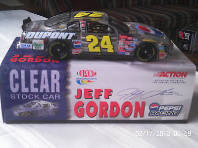 Jeff Gordon 2001 #24  Dupont/Pepsi  1/24 Action Clear Car