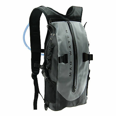 Mad Water Grey Waterproof Lightweight Action Sports Hydration Backpack Pack Bag