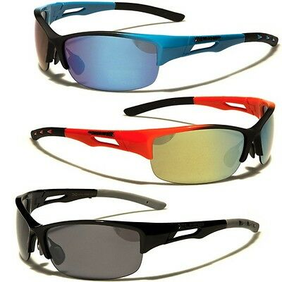 Large Half Frame Oversized Mens Sunglasses Sport Cycling Running Wrap Around New