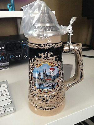 New German Beer Mug/Stein never used, made for Gerz, pic of Köln (Cologne)