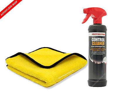Menzerna Control Cleaner Polish Supervision Spray + Gold Microfasertuch 500GSM