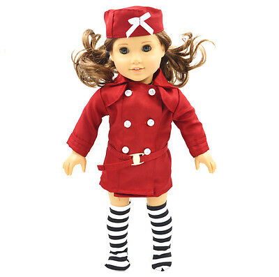 "Doll Clothes fits 18"" American Girl Handmade Red  PartyDress american girl doll"