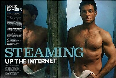 JAMIE BAMBER  (barechested)  --  2006 Magazine Picture Clipping   /D