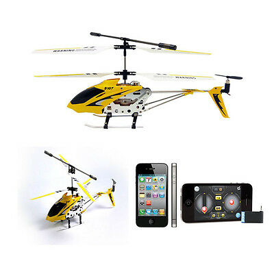 Yello S107 3.5CH Metal Mini RC iPhone Remote Control GYRO Helicopter iCopter Toy