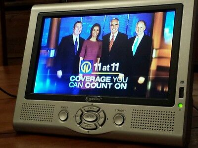 """7"""" Portable Supersonic LCD TV Monitor w/built in Digital Tuner"""