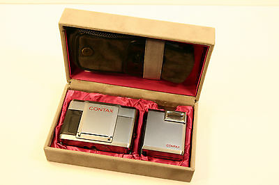 CONTAX T Rangefinder Camera w/ Zeiss Sonnar 28/38 Lens,T14 Flash, Case, Manual