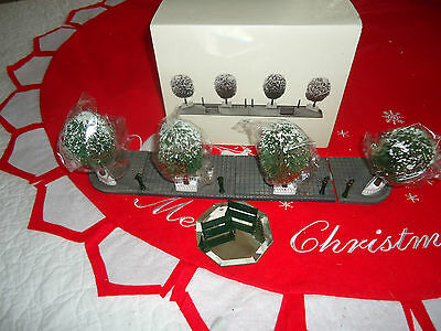 "Retired  DEPT 56 "" Boulevard"" 14 piece Accessory set, Gates, Benches~ Trees +"