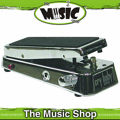 New Dunlop Chrome Crybaby 535Q Multi Wah Guitar Pedal  -Adjustable Boost C535QC