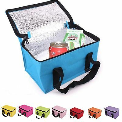 Carry Cooler Ice Boxes Insulated Lunch Box Collapsible Picnic School Cooler Bag