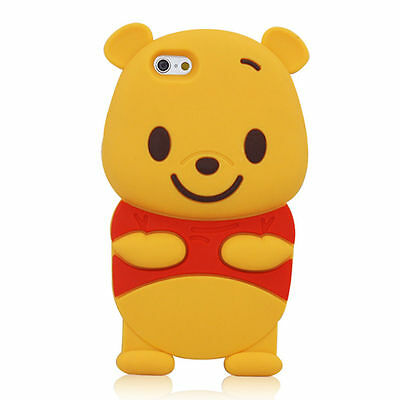 Cute Winnie the Pooh Bear Soft 3D Silicone Gel Case Cover For iPhone 6 4.7""