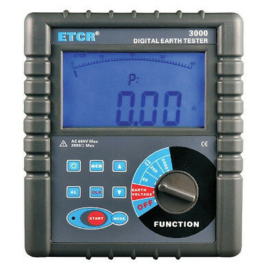ETCR3000 Clamp On Ground Earth Resistance Tester Meter ETCR3000
