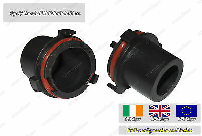 2x HID Xenon Conversion Bulb Holders Adapters H7 Opel Vauxhall Astra MK4 G 1999-