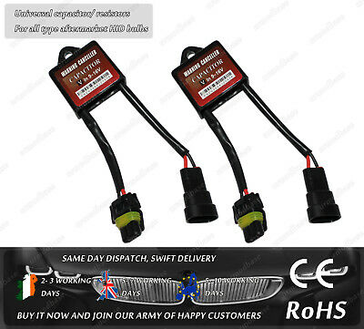 2x HID Xenon Kit CanBus Warning No Error Free Capacitor Resistor Decoder BMW VW